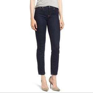 7 FOR ALL MANKIND Roxanne Blue Straight Ankle Jean